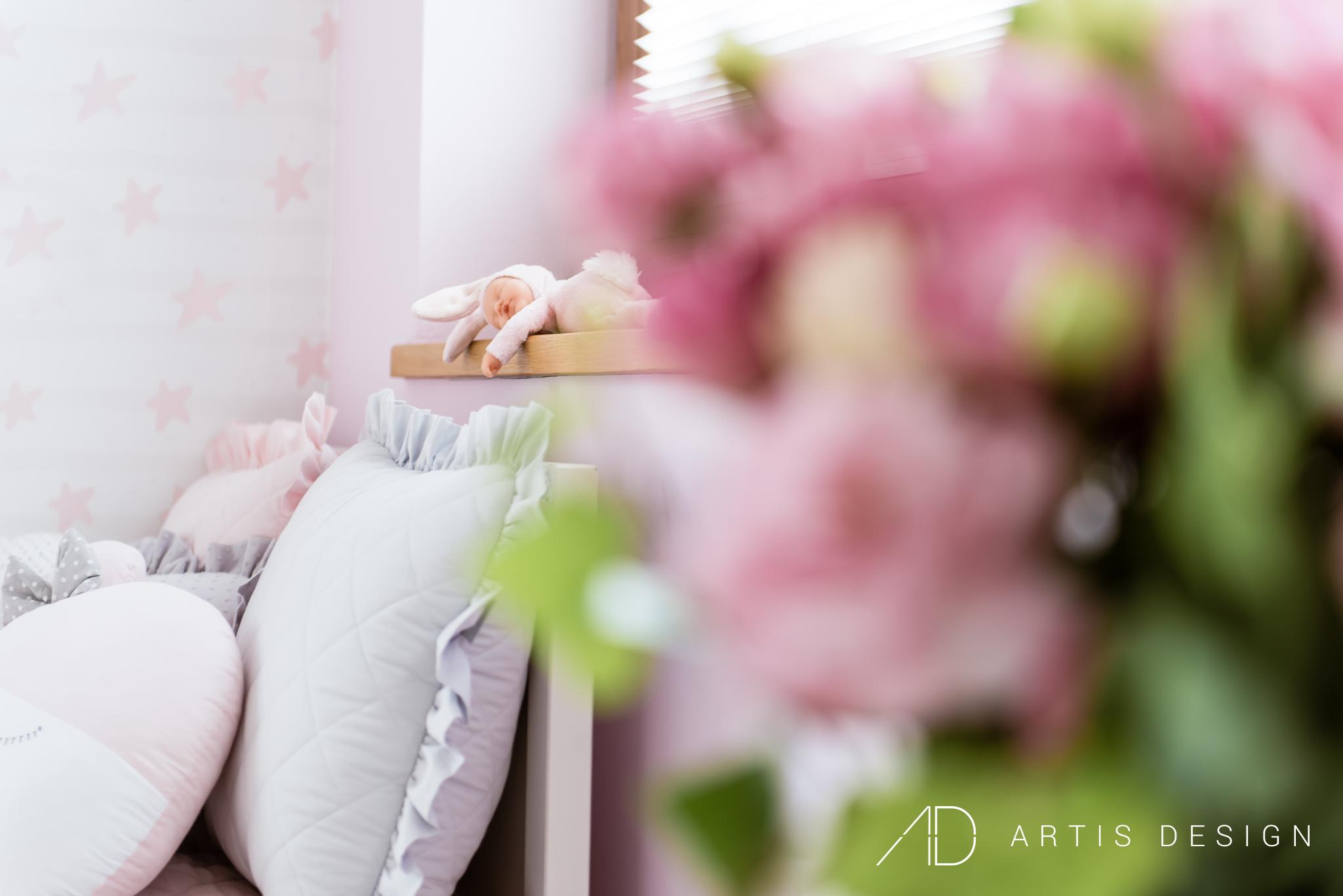 Projekt: Pokój dziewczynki   Artis Design: Studio projektowe