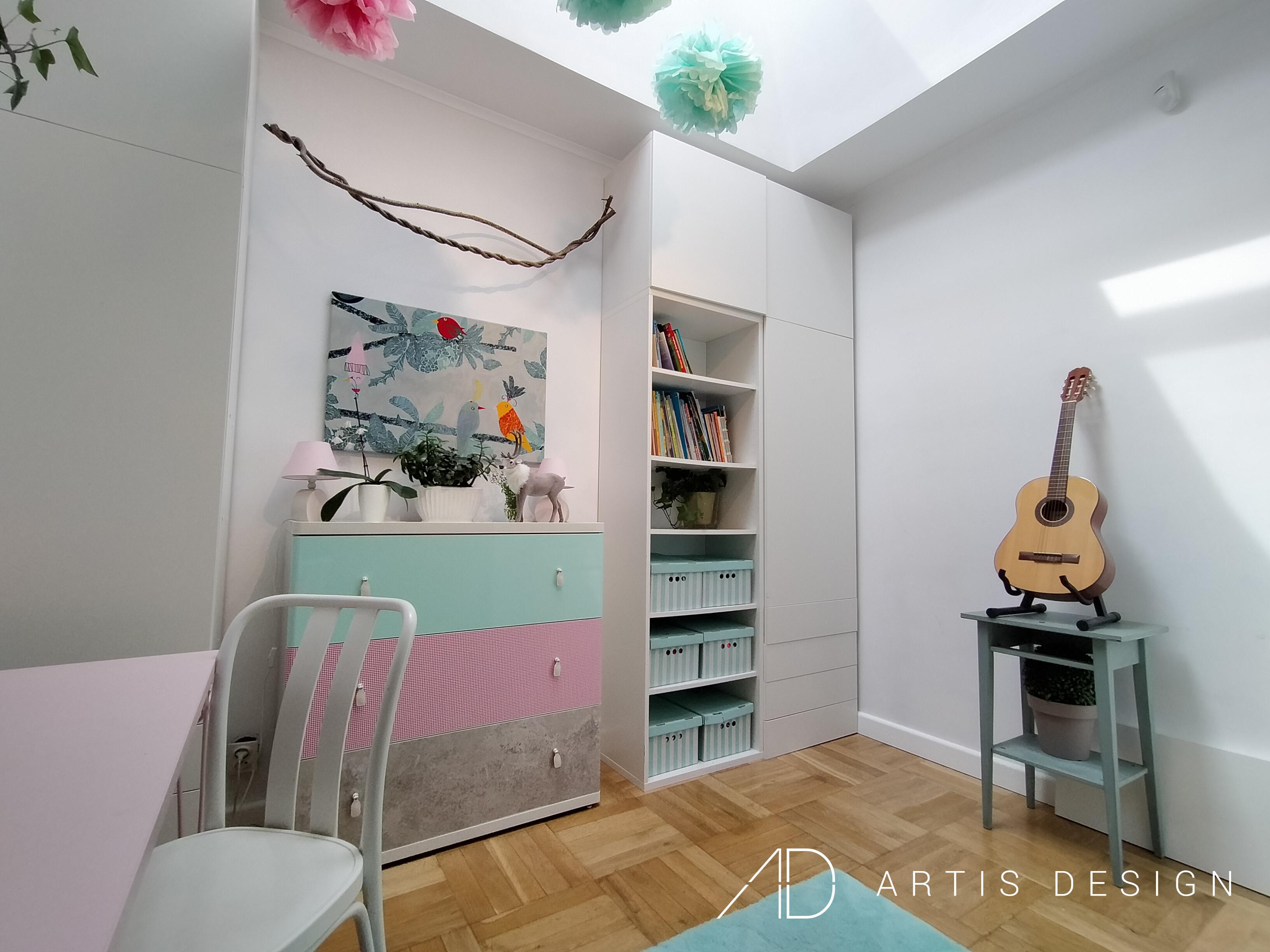 Projekt: Pokój nastolatki   Artis Design: Studio projektowe