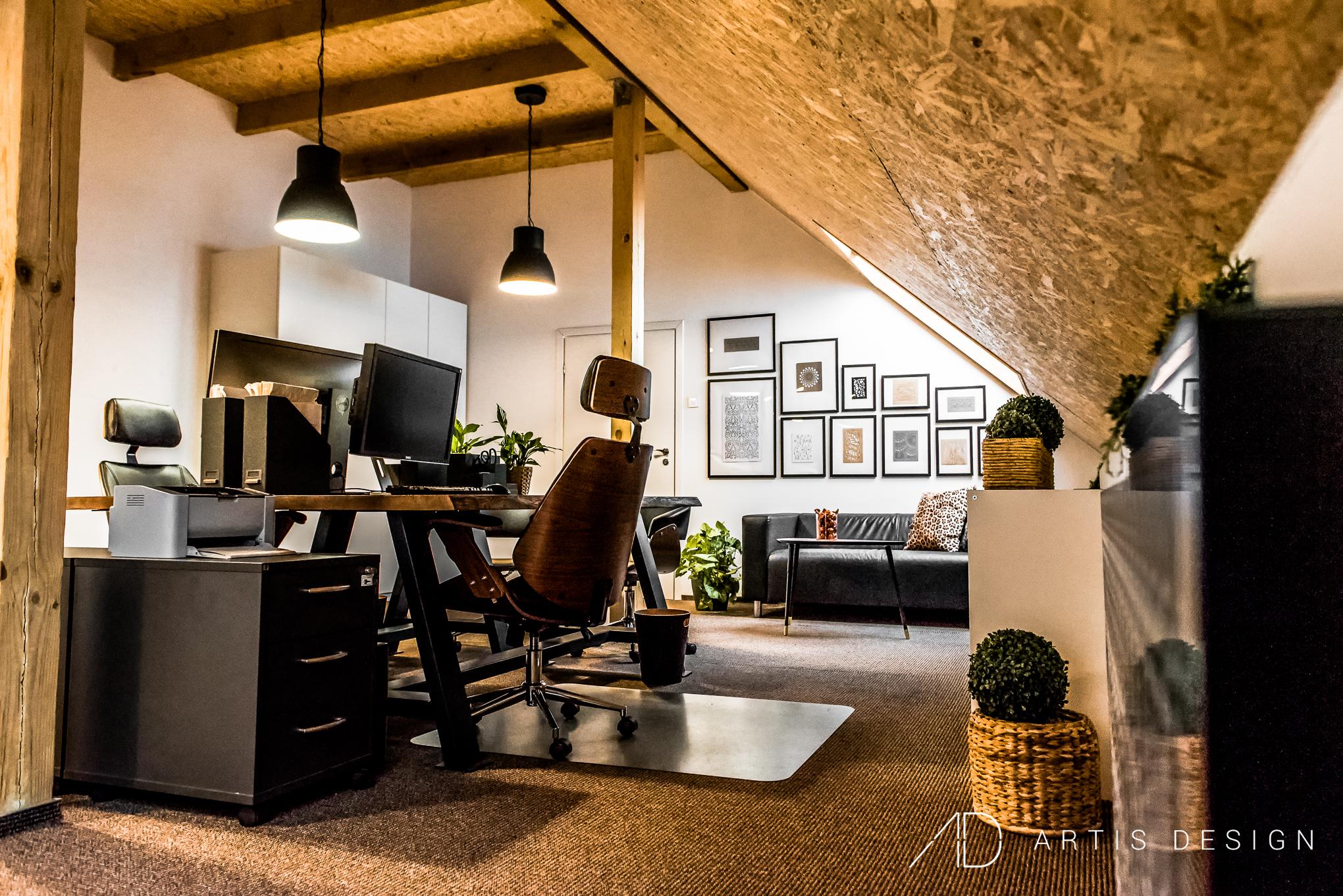 Projekt: Loftowe biuro   Artis Design: Studio projektowe